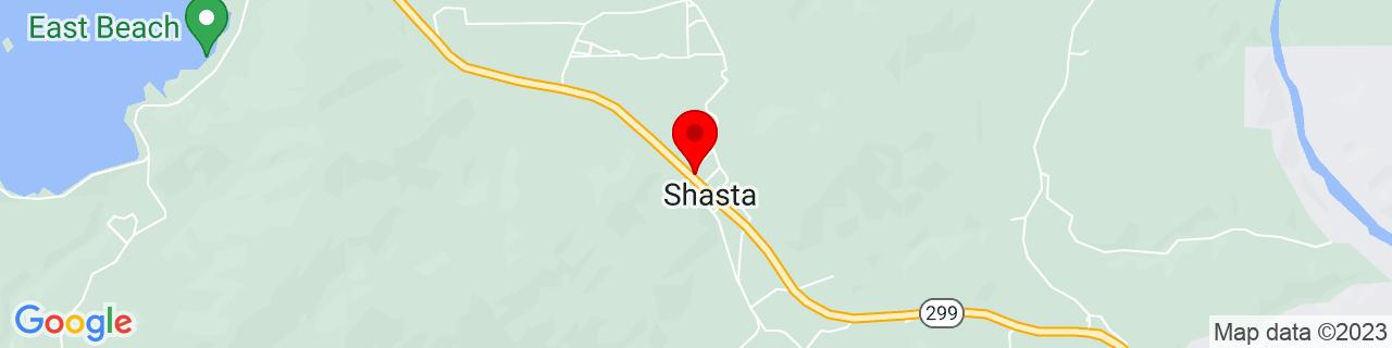 Google Map of 40.5993165, -122.4919571