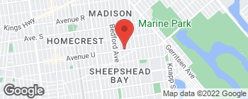 Map of 2701 Avenue U in Brooklyn