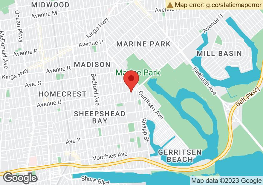 Google Map of 3082 AVENUE U