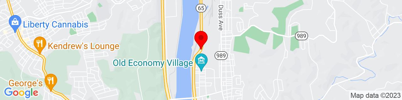 Google Map of 40.6025477, -80.2317525
