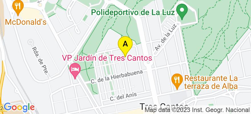 situacion en el mapa de . Direccion: MIRRA 74, 28760 Tres Cantos. Madrid