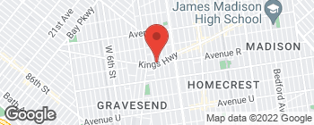 Map of 519 Kings Hwy in Brooklyn
