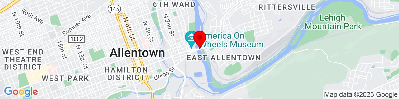 Google Map of 40.6064472, -75.4541881