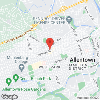 Map of Rite Aid at 1401 W Tilghman Street, Allentown, PA 18102