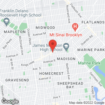 Map of Rite Aid at 1720 Kings Highway, Brooklyn, NY 11229