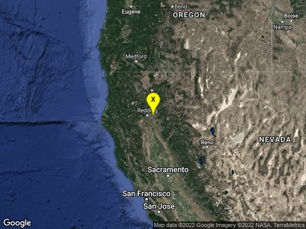 earthquake 7km NNE of Millville, CA