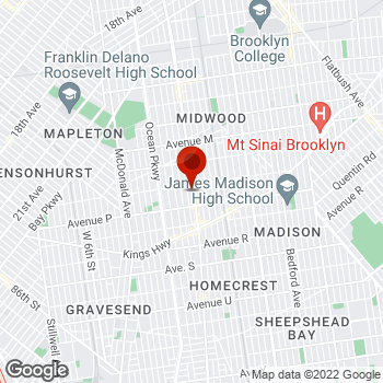 Map of Staples® Print & Marketing Services at 1880 Coney Island Avenue, Brooklyn, NY 11230