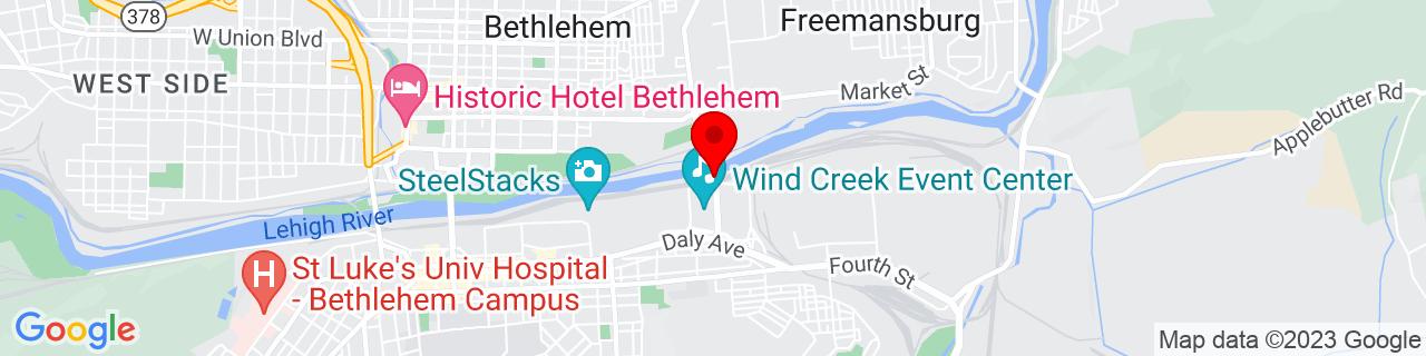 Google Map of 40.61710679999999, -75.3584396
