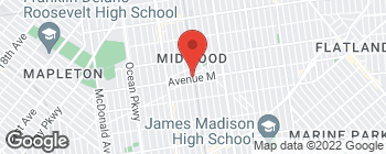 Map of 1507 Avenue M in Brooklyn