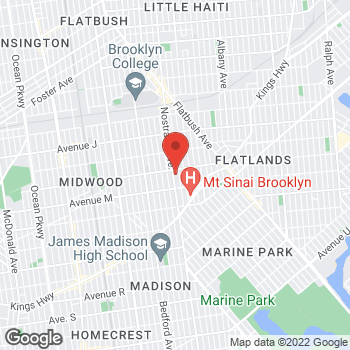 Map of Rite Aid at 2577 Nostrand Avenue, Brooklyn, NY 11210