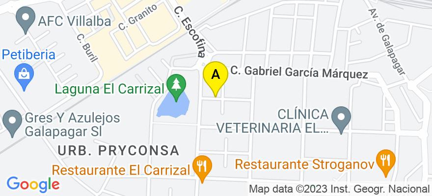 situacion en el mapa de . Direccion: C/ NUEVA, 62, 28400 Collado Villalba. Madrid