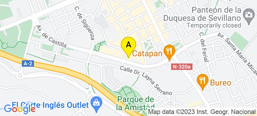 situacion en el mapa de . Direccion: Calle Rufino Blanco 14, 19001 Guadalajara. Guadalajara