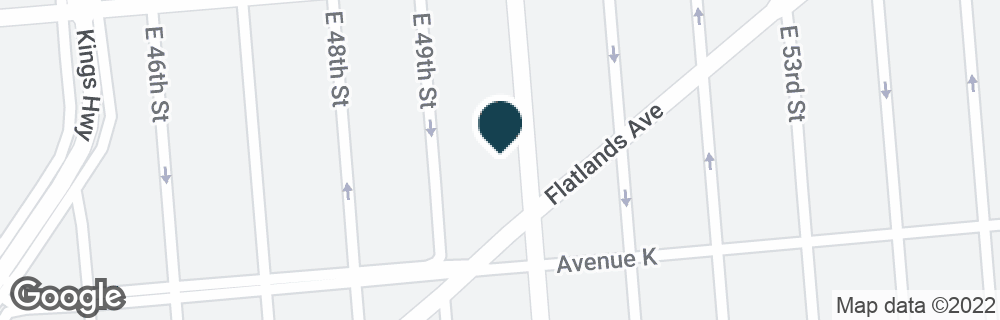Google Map of4915 FLATLANDS AVE