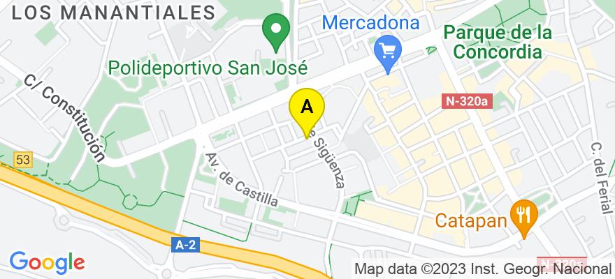 situacion en el mapa de . Direccion: Calle de Juan Diges Antón, 21, 19003 Guadalajara. Guadalajara