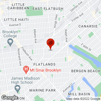 Map of Staples® Print & Marketing Services at 1760 Utica Avenue, Brooklyn, NY 11234