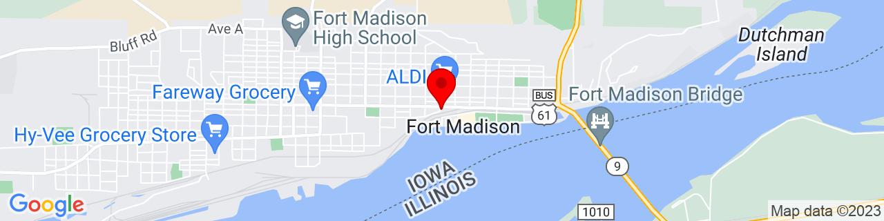 Google Map of 40.6297632, -91.3151506