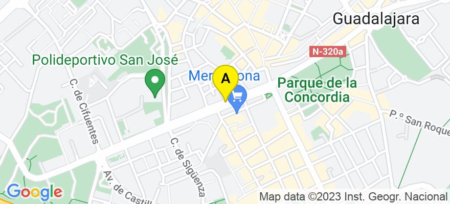 situacion en el mapa de . Direccion: c/ Jesús García Perdices 1B,  4ºB, 19004 Guadalajara. Guadalajara
