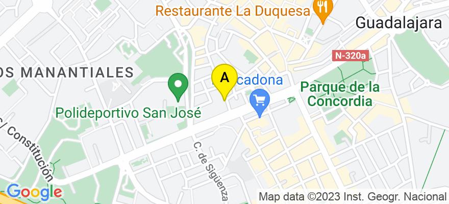 situacion en el mapa de . Direccion: ANGEL MARTIN PUEBLA 28, 1º, 19001 Guadalajara. Guadalajara