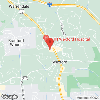 Map of Panera Bread at 12071 Perry Highway, Wexford, Pennsylvania 15090
