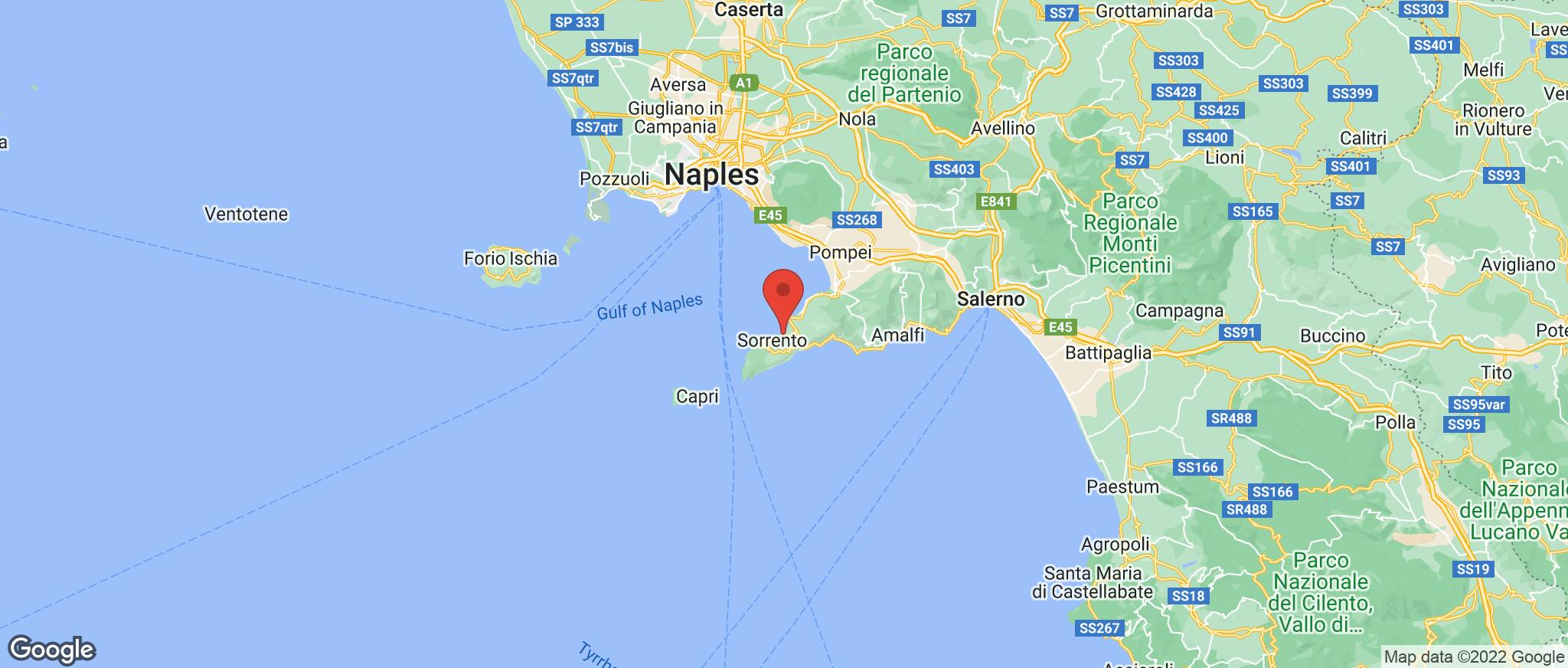 Map showing the location of Sant Agnello