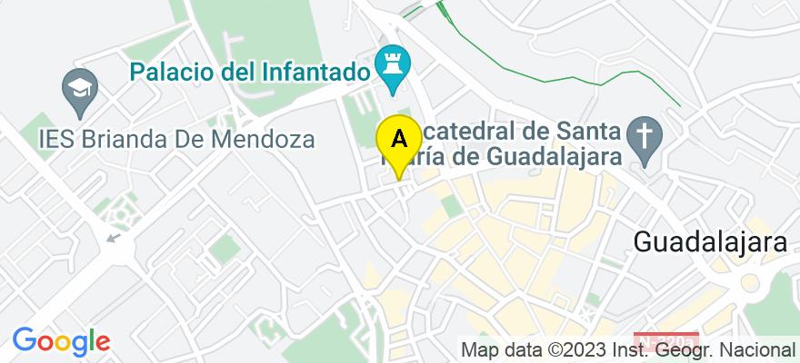 situacion en el mapa de . Direccion: PZA. DAVALOS 4, 19001 Guadalajara. Guadalajara