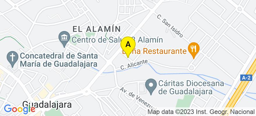 situacion en el mapa de . Direccion: C/ HUESCA, 4, 19005 Guadalajara. Guadalajara