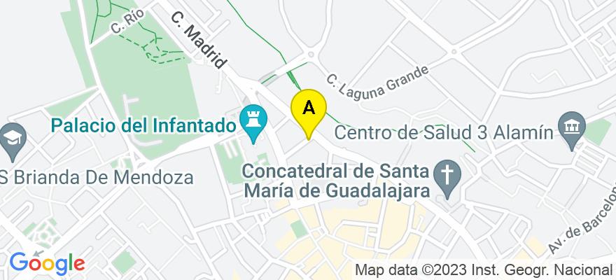 situacion en el mapa de . Direccion: Calle Francisco Cuesta, 8, 19001 Guadalajara. Guadalajara