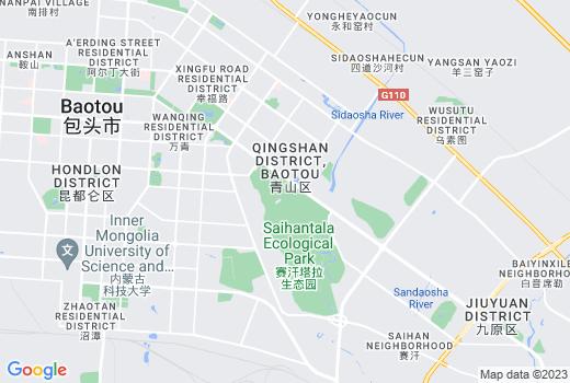 Google MAP Static API による包頭市中心部の地図