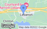 Map of Lebanon, NJ