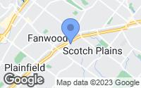 Map of Fanwood, NJ
