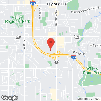 Map of Guitar Center Lessons at 5752 South Redwood Road, Salt Lake City, UT 84123