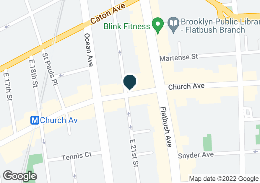 Google Map of2101 CHURCH AVE