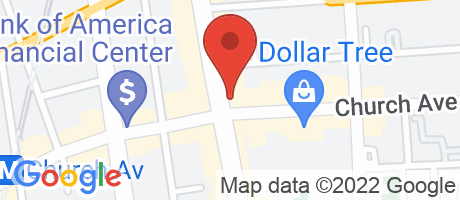 Branch Location Map - Chase Bank, Flatbush Branch, 883 Flatbush Avenue, Brooklyn NY