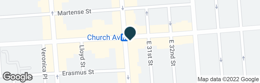 Google Map of3000 CHURCH AVE