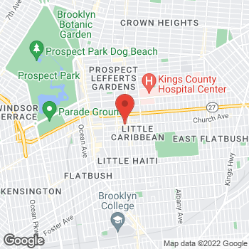 Map of Rite Aid at 2819 Church Avenue, Brooklyn, NY 11226