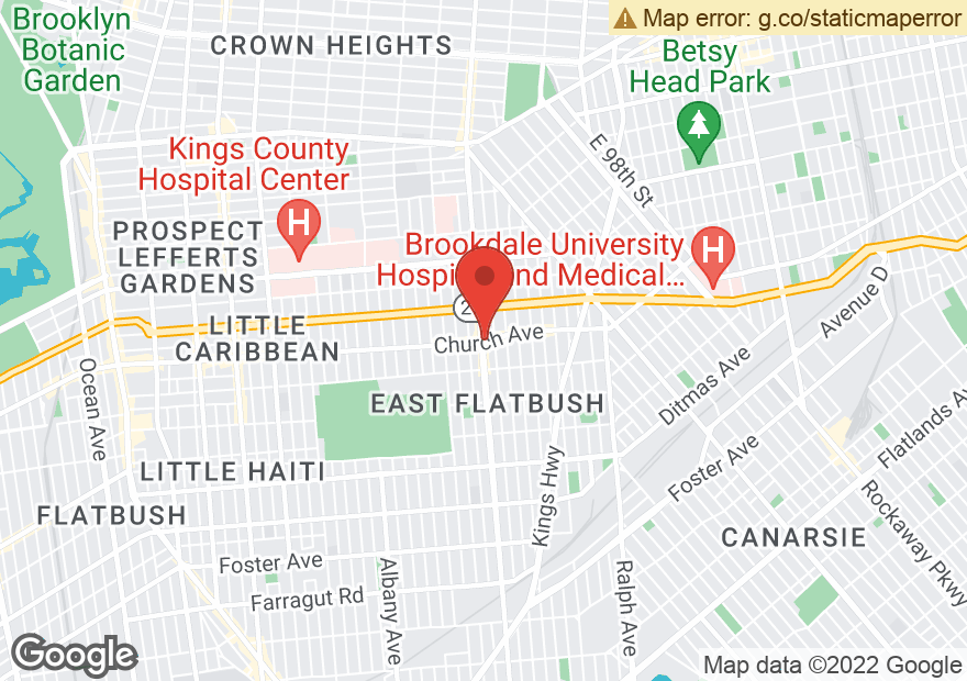 Google Map of 5001 CHURCH AVE