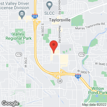Map of Arby's at 1870 W 5400 S, Taylorsville, UT 84118