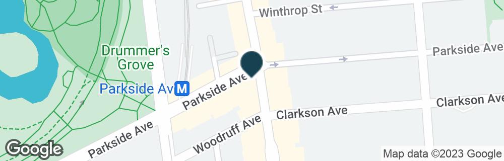 Google Map of724 FLATBUSH AVE