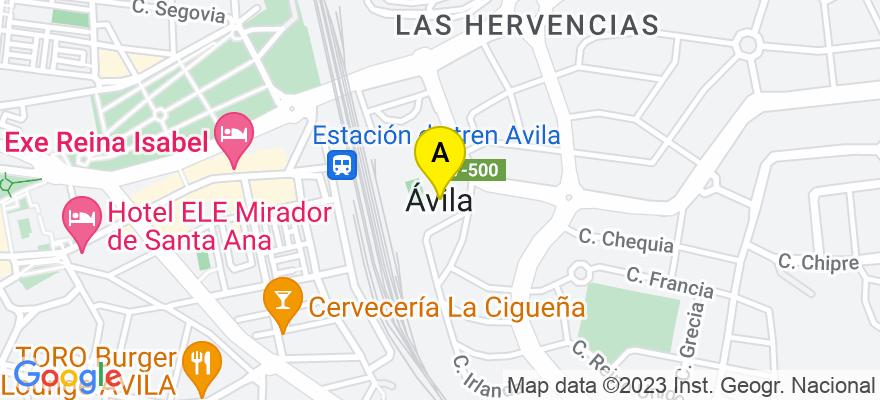 situacion en el mapa de . Direccion: Travesía Santa Catalina, 4-2º E, 05001 Ávila. Ávila