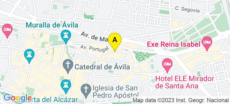 situacion en el mapa de . Direccion: Doctor Fleming nº 10, 05001 Ávila. Ávila