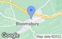 Map of Bloomsbury, NJ
