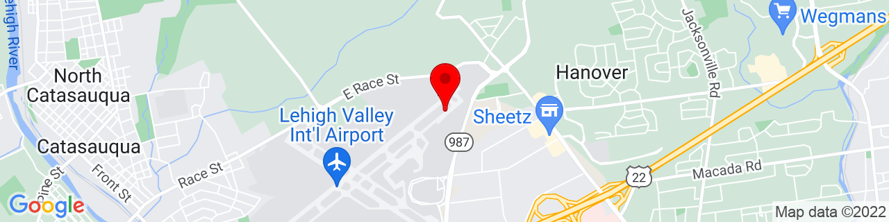 Google Map of 40.6580788, -75.4305358