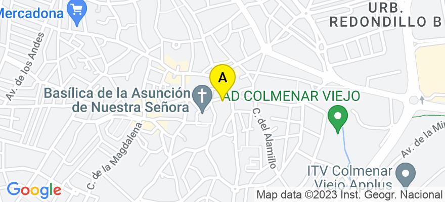 situacion en el mapa de . Direccion: C/ del Pilar Nº 7, 28770 Colmenar Viejo. Madrid