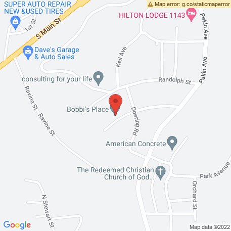 Bobbis Place on Map (222 Crescent Ave, East Peoria, IL 61611) Map