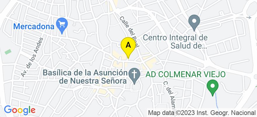 situacion en el mapa de . Direccion: Calle Doctor González Serrano, 2, 28770 Colmenar Viejo. Madrid