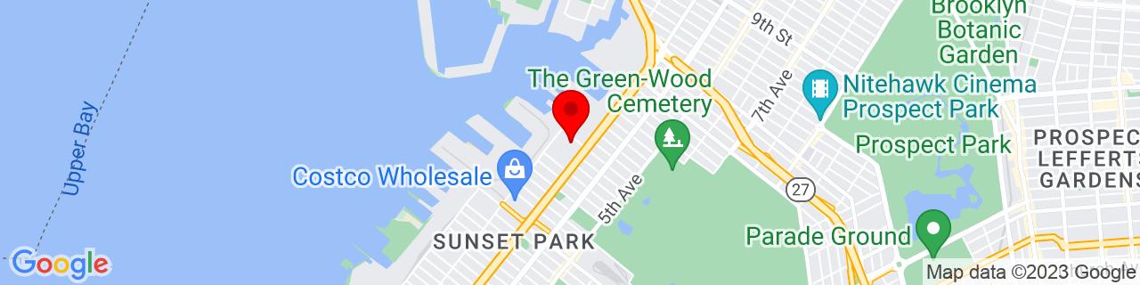 Google Map of 40.659896, -74.00386
