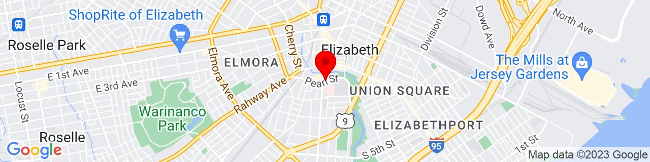 Google Map of 40.6599392, -74.2148143