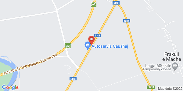 Google Map of SH8, Αλβανία