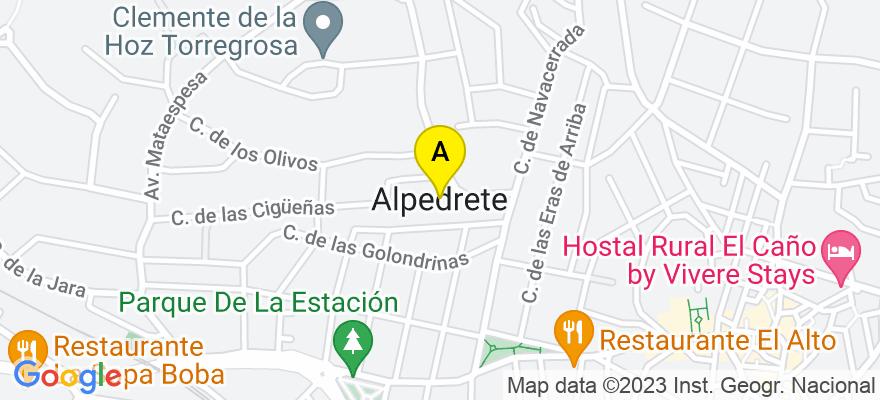 situacion en el mapa de . Direccion: Cerca de los Pinos, 28430 Alpedrete. Madrid
