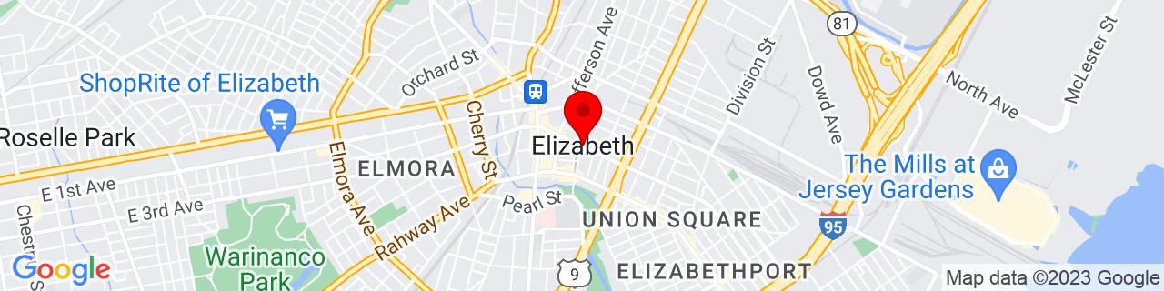 Google Map of 40.6639916, -74.2107006
